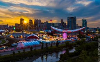 Calgary Stampede sunset