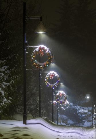 Whistler street in Christmas time