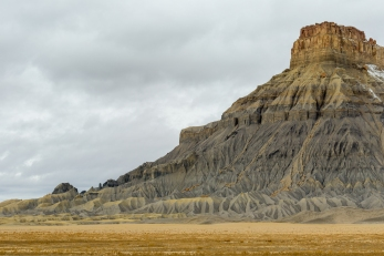 In Little Wild Horse Mesa, the badlands look like the work of an artist.