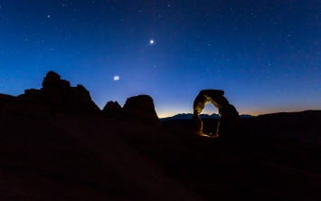 Arches National Park, Delicate Arch, just before the sunrise.