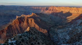 Shadows playing on the South Rim