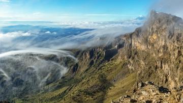 Cofre de Perote, Veracruz. perfect viewpoint to admire the Orizaba volcano, 5670m.