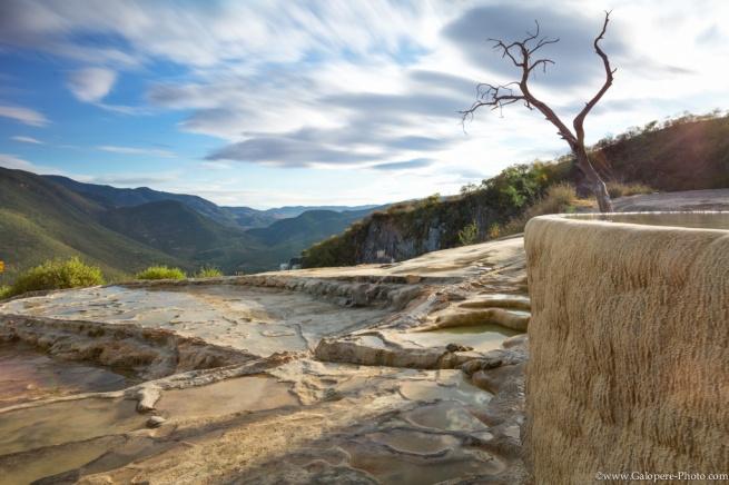 A great petrified fall in Oaxaca state