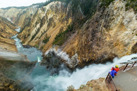 What a great selfie at Lower Falls in Yellowstone National Park !