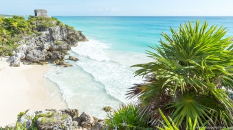 Tulum was a strong port city on the Mayan world, until 1400 A.D.