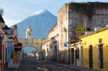 Under the Agua volcano