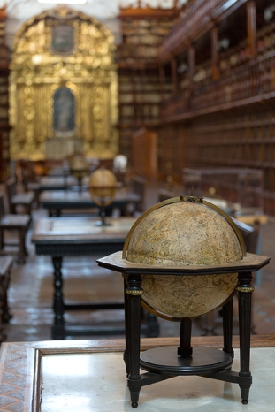 The Biblioteca Palafoxiana is the first library created in the Americas, located in Puebla City's historic centre, in the Mexican state of Puebla. It was founded in 1646.