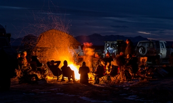 Freeze Your Tail Off, enjoying human warmth in the cold desert for winter solstice
